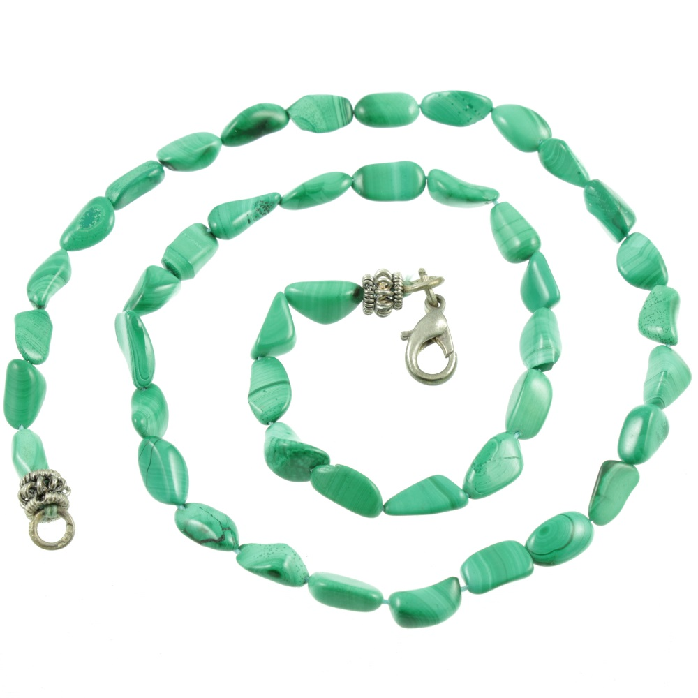 Malachite Nugget Necklace