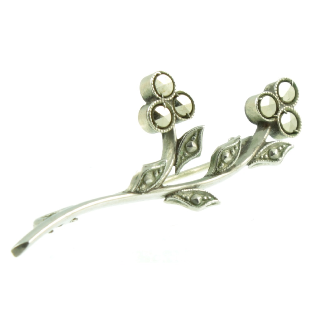 Marcasite Branch Brooch