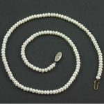 Single strand freshwater pearl necklace circa 1950s
