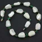 White agate and malachite necklace circa 1940s jewellery