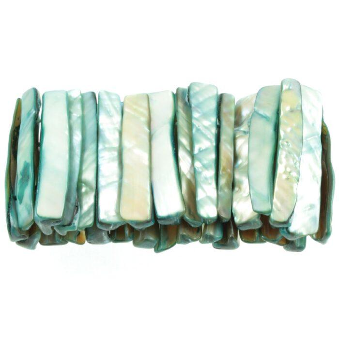 Abalone Shell Bracelet - side view