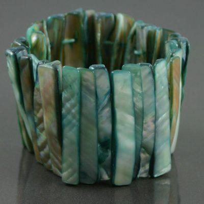 Abalone shell stretch bracelet