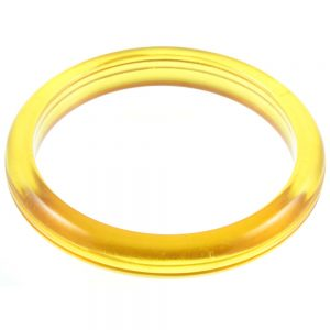 Amber Lucite Bangle - top view