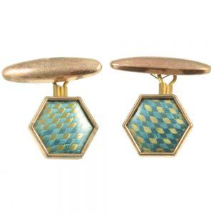 Art Deco Hexagonal Cufflinks