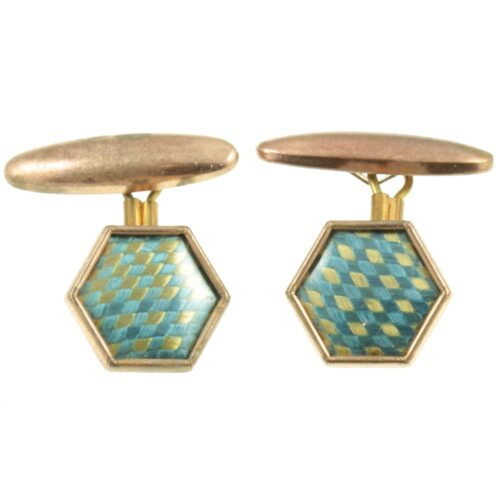 Art Deco Hexagonal Cufflinks
