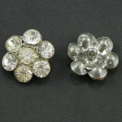 Edwardian Rhinestone buttons in a closed setting
