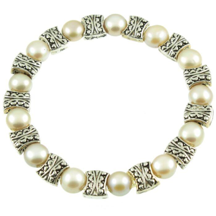 Freshwater pearl bracelet - top view