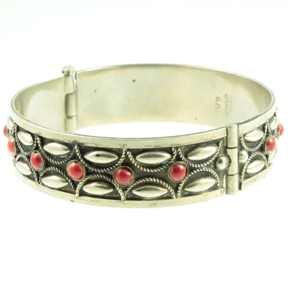 Italian Silver Bracelet - side view