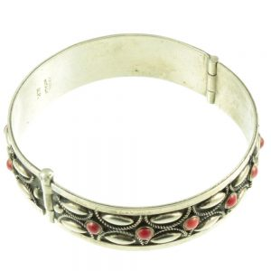 Italian Silver Bracelet - top view