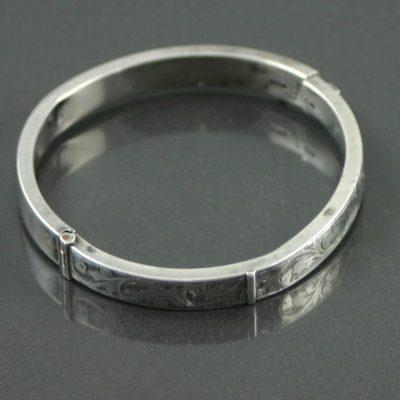 Rolled Silver Bracelet 1970s