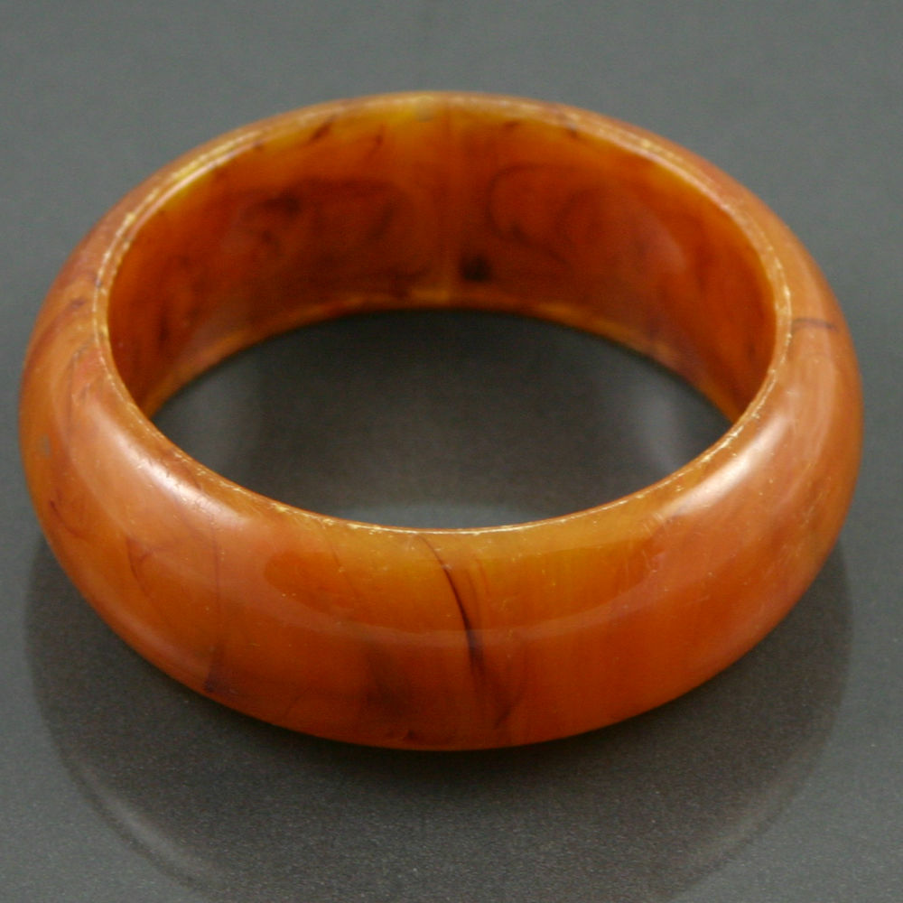 Root beer swirl bakelite bangle