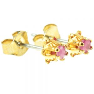 Ruby Stud Earrings - side view