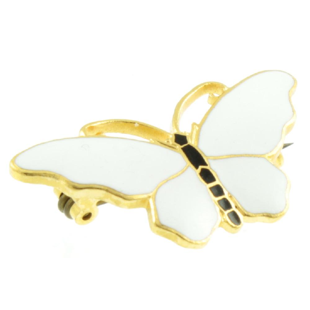 Sporrong Enamel Butterfly Brooch