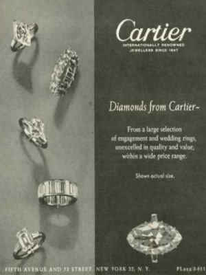 1950s Cartier ad