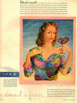 1950s jewellery De Beers ad