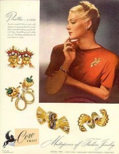 Coro ad - 1940s retro jewellery