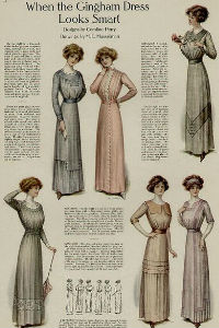Edwardian Fashion ladies dresses