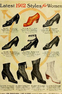 Edwardian fashion shoes