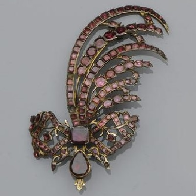 Georgian Garnet Brooch