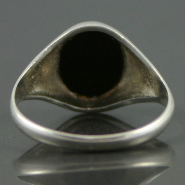 black onyx silver ring carus jewellery