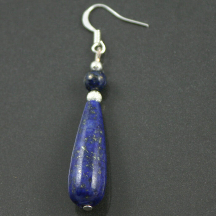 Lapis Lazuli drop earrings side view