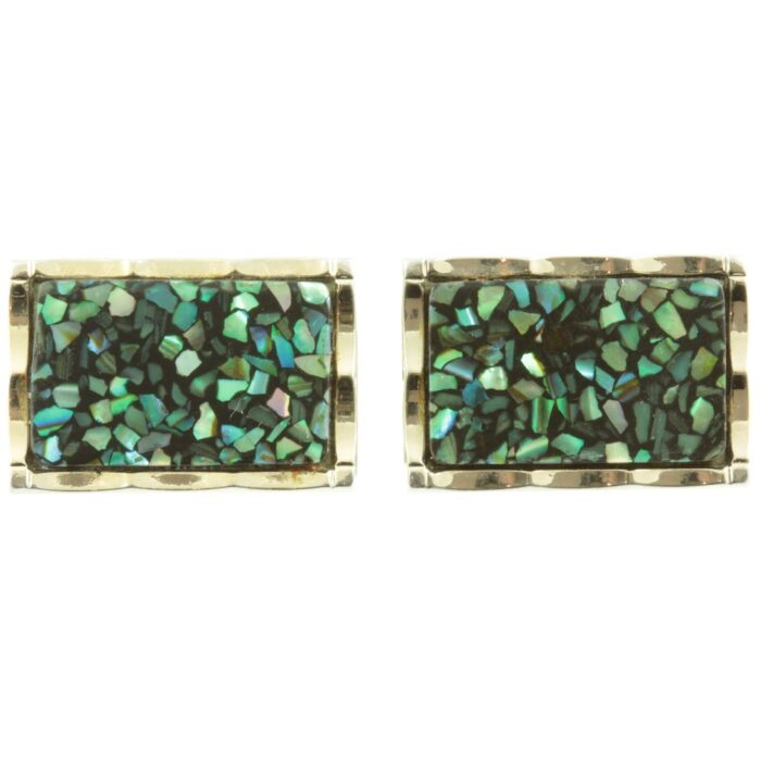 Paua Shell Cufflinks