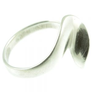 Sterling Silver Wave ring - side view