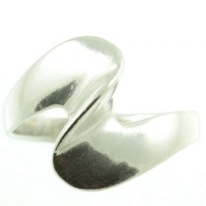 Sterling Silver Wave ring - front view