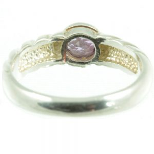 Sterling silver amethyst ring - inside view