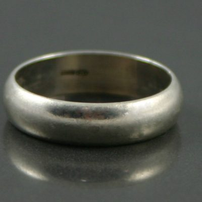 mens sterling silver ring band