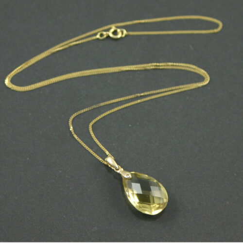 8.5ct Citrine pendant necklace