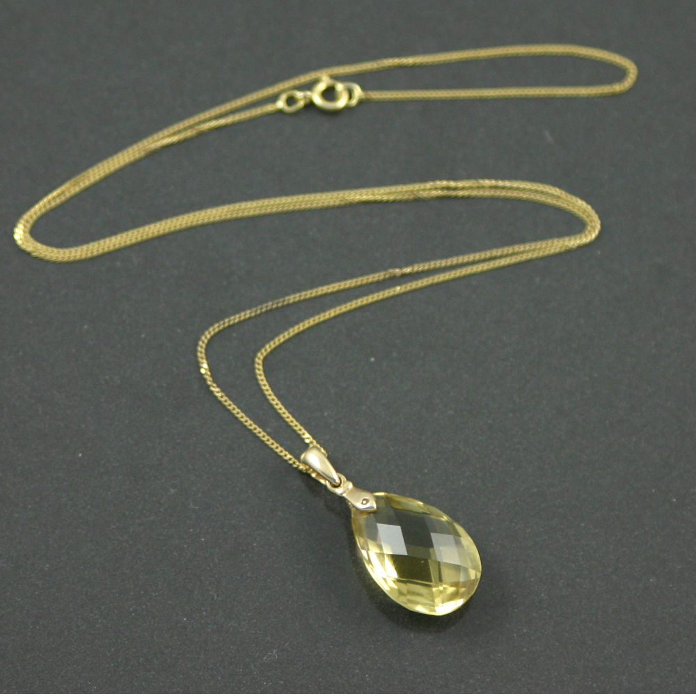 8.5ct Citrine pendant necklace