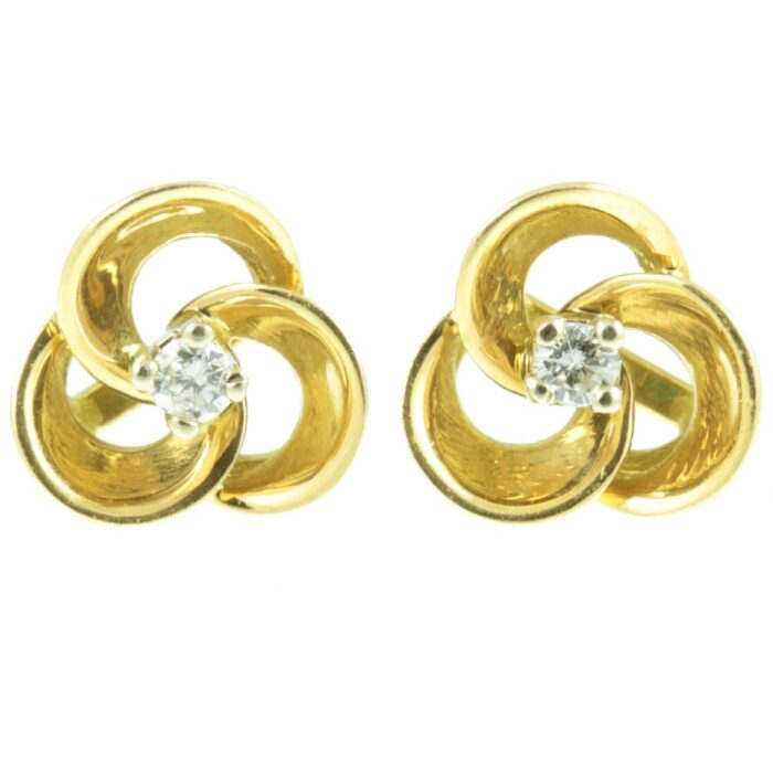 Diamond Floral Stud Earrings
