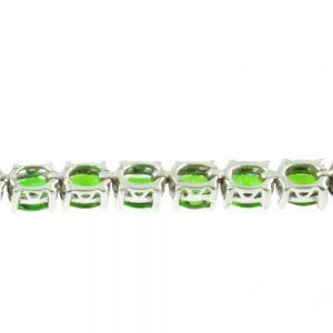 Diopside Sterling Silver Bracelet - inside view
