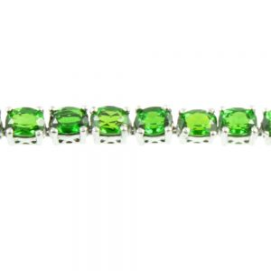 Diopside Sterling Silver Bracelet - close up view