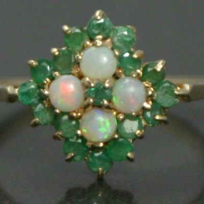 Emerald & Opal Cluster Ring