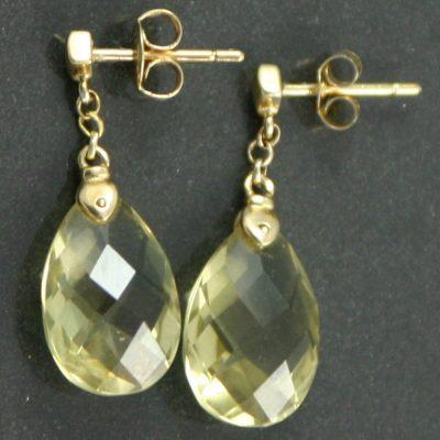 Mid-Century Citrine Drop Earrings