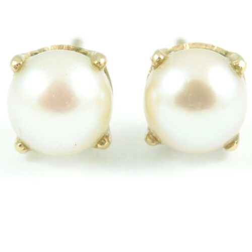 Retro Pearl Stud Earrings