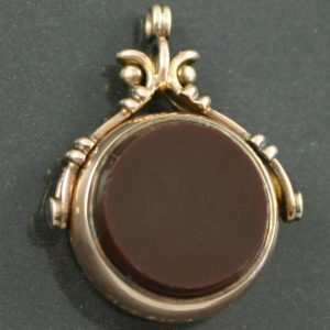 Victorian Swivel Fob Seal with blodstone and carnelian