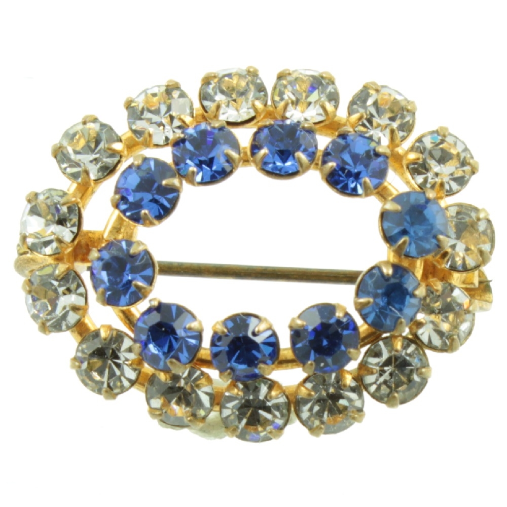 1930s Faceted Glass Brooch