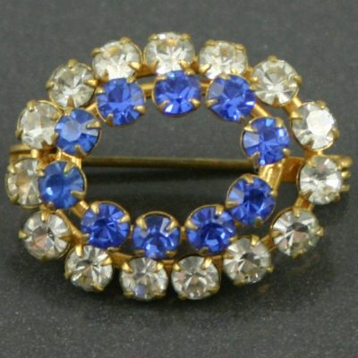 1930s glass brooch