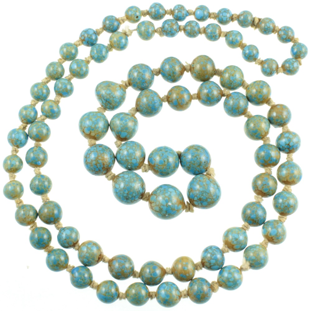 1930`s Sea Sediment Jasper Necklace