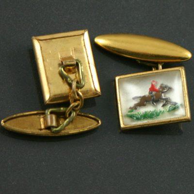 1930s horse and rider cufflinks