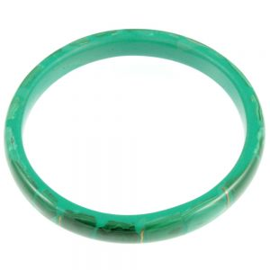 1940s Malachite Bangle - top view