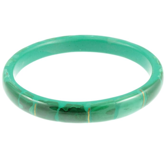 1940s Malachite Bangle - side view