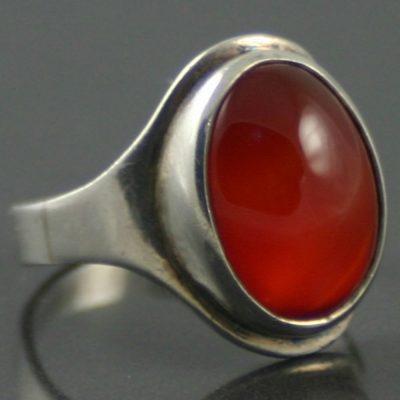 1950s Carnelian Silver Ring
