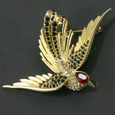 1960s Sphinx Swallow Brooch