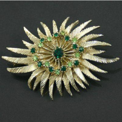 1960s floral brooch