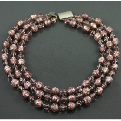 1960s venetian foil necklace