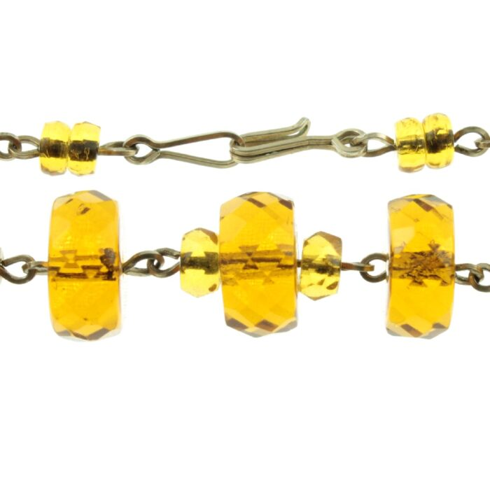Amber Czech Glass Bead Necklace